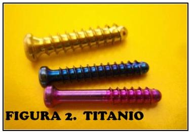 Tornillos quirurgicos de titanio