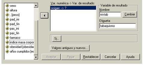 bioestadistica_medicos_SPSS/transformar_recodificar_distintas_variables_SPSS