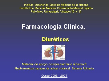 medicamentos+diureticos+mecanismo+de+accion