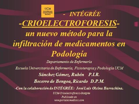 crioelectroforesis/crioelectroforesis